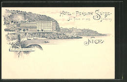 Lithographie Nice, Hotel-Pension Sursse - Cafés, Hôtels, Restaurants
