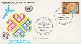 Enveloppe  FDC  1er  Jour    REPUBLIQUE   De   DJIBOUTI    Année  Mondiale  Des  Communications    1983 - Djibouti (1977-...)