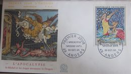 Enveloppe FDC 547 - 1965 - Tableau Tapisserie - Apocalypse - YT 1458 - Angers - FDC