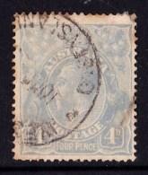 Australia 1922 King George V 4d Blue Single Crown Used - QUEENSLAND, Ageing - 1913-36 George V: Heads