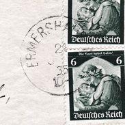 Lettre Allemagne Ermershausen 1935 Bayern Die Saar Kehrt Heim - Allemagne