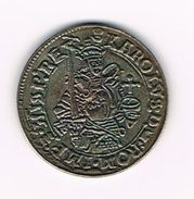 )  HERDENKINGSMUNT  REPLICA GOUDEN REAAL KAREL V KAROLUS 1542-56 - Souvenirmunten (elongated Coins)