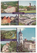 2 Multiview POSTCARDS Of VILNIUS In 1981 - Litouwen