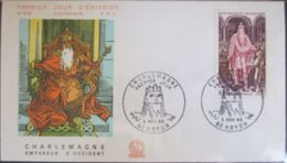 Enveloppe FDC 579 - 1966 - Roi Charlemagne - YT 1497 - Noyon - FDC