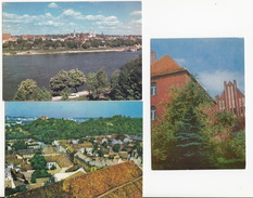 3 CARDS Of LITHUANIA : Klaipeda, Kaunas & Vilnius - Litouwen