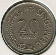 Singapour Singapore 20 Cents 1973 KM 4 - Singapour