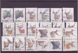V] 21 Timbres Oblitérés 21 Cancelled Stamps Usage Courant AFRIQUE DU SUD SOUTH AFRICA Definitives - Sud Africa (1961-...)