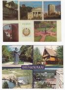 2 POSTCARDS Of LITHUANIA : Vilnius & Druskininkai- (Multiviews) - Litouwen