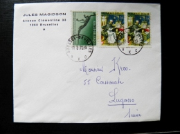 Cover From Belgium 1970 Dinosaur - Covers & Documents