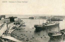 MALTA - Entrance To Grand Harbour - VG Ships Etc - Malta