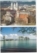 2 POSTCARDS Of LITHUANIA : Kaunas (Senamiescio Fragmentas) & Juodkranté (Bernsteinbucht) - Litouwen