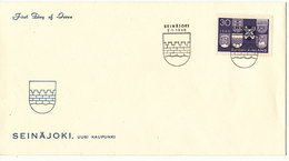 Finland FDC 2-1-1960 Six New Towns With Cachet - Finnland