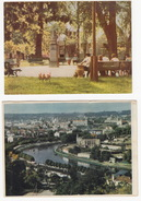2 OLD POSTCARDS Of LITHUANIA : Vilnius (Neries Upé) & Birstonas (Central Square) - Litouwen