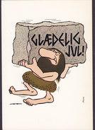 Denmark PPC Buus : Glædelig Jul Stenaldermand Stone Age Man (2 Scans) - Autres Illustrateurs