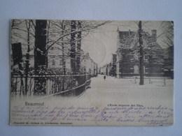 Beaumont //  Ecole Moyenne Des Filles (Hiver)  // Used 1904 - Beaumont