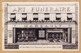 Del111 BORDEAUX  Gironde Magasin Art Funéraire MARSAULT 187 Rue D' ARES BRUGES Cppub 1930s CHAMBON - Bordeaux
