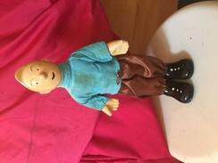 TINTIN Tintin Superbe Statuette Figurine De 29 Cm En Porcelaine Dans Son Jus Habillée Vintage Pas Neuve Pas De Copie - Tintin