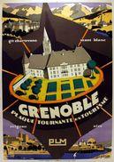 PLM Grenoble Plaque Tournante Du Tourisme - Postcard - Poster Reproduction - Publicité
