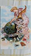 CPM CARTEXPO 55 MAISON DE LA MUTUALITE PARIS JUIN 2010 ILLUSTRATION FEMME MONDE CORNE D ABONDANCE - Bourses & Salons De Collections