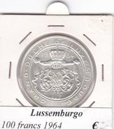 LUSSEMBURGO   100 FRANCS   ANNO 1964  COME DA FOTO - Lussemburgo