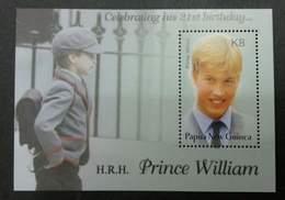Papua New Guinea H.R.H Prince William 21st Birthday 2003 Royal (miniature Sheet) MNH - Papua New Guinea