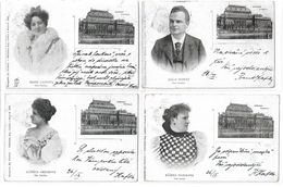 4170a: Franz Kafka (RR), 4 AKs Stadttheater Prag, An Irma Rohanova, Praha 1898 - Briefe U. Dokumente