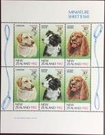 New Zealand 1982 Dogs Minisheet MNH - Perros