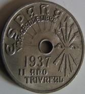 Moneda 25 Céntimos. 1937. Falange. Guerra Civil. II Año Triunfal. España. General Franco - Nationalist Location