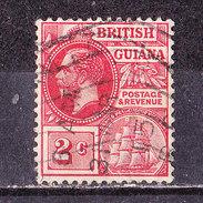 Guyana Br. 1913-Giorgio V -2 D.rouge Usato - British Guiana (...-1966)