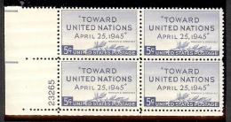 1945 - U.S. # 928 - Block Of 4 - Mint VF/NH - United States