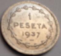 Moneda 1 Peseta. 1937. Euzkadi. País Vasco. Guerra Civil. España - Republican Location