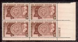 1948 - U.S. # 955 - Block Of 4 - Mint VF/NH - United States