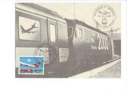 17033 - Genève 15 Aeroport 25-31.05.1987 Train - Cartes-Maximum (CM)