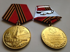 Medalla 1945-1995. 50 Aniversario Victoria 2ª Guerra Mundial. URSS. Rusia Comunista. - Rusia