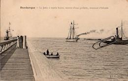 Dunkerque – La Jetée à Marée Haute, Rentrée D'une Goélette Revenant D'Islande – Circulé En 1905 - Dunkerque