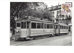 17034 - Carte Maximum  Train Forchbahn 1988 Zumikon - Trains