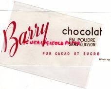 BUVARD EFGE - CHOCOLAT BARRY EN POUDRE SANS CUISSON - Food