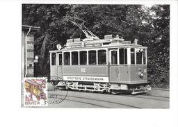 17036 - Carte Maximum Zürich 1988 Tram N°8 St¨dtische Strassenbahn (format 10X15) - Trains