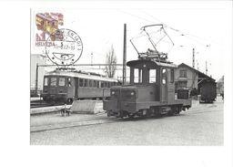 17037 - Carte Maximum Wohlen1988 Train Et Gare De Dietikon (format 10X15) - Trains