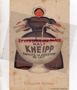 BUVARD MALT KNEIPP - FACILITE LA DIGESTION DU LAIT- IMPRIMERIE B. SIRVEN TOULOUSE PARIS - Café & Thé