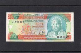 BARBADOS 1989, 50 DOLLARS, P-40a, CIRCULADO, 2 ESCANER - Barbados