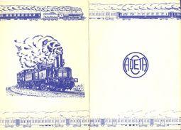 "Menus Train Spécial AJECTA ""L'Ardennais Express"" 27 Septembre 1987 -  3 Menus - Petit Déjeuner - Déjeuner - Dîner - - Menus"