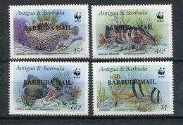 1987- BARBUDA- RARE FISHES W.W.F.- CPL.SET- M.N.H.- LUXE !! - Antigua And Barbuda (1981-...)