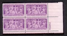 1953 - U.S. # 1022 - Block Of 4 - Mint VF/NH - Unused Stamps