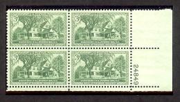 1953 - U.S. # 1023 - Block Of 4 - Mint VF/NH - Unused Stamps