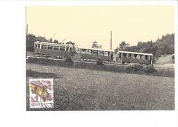 17041 - Carte Maximum Suisse Trains BZUe-Zug 1923 Auf Probefahrt Oberhalb Ringlikon Uetliberg (format 10X15) - Trains