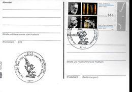 ALLEMAGNE  Carte   FDC 2004 Prix Nobel Medecine Physiologie Paul Ehrlich  Emil Von Behring Microscope - Medicina