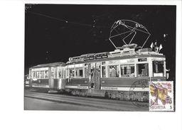17043 - Carte Maximum Suisse StStZ Ce 4/4 321 Einweihungsfahrt Zürich 1988  (format 10X15) - Trains
