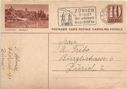 Zurigo 1942, Murten/Morat - Cartolina Postale - Storia Postale