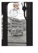 17045 - Carte Maximum Suisse Tram Blick Aus Dem StStZ Ce 2/22 Auf Ce 2/2 176 Zürich 1988 (format 10X15) - Trains